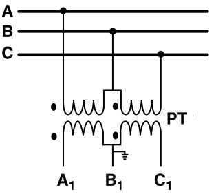 OPen Delta Connection of Potential Transformer