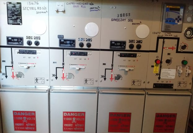 11KV RMU with Load Break Switches and SF6 Circuit Breaker
