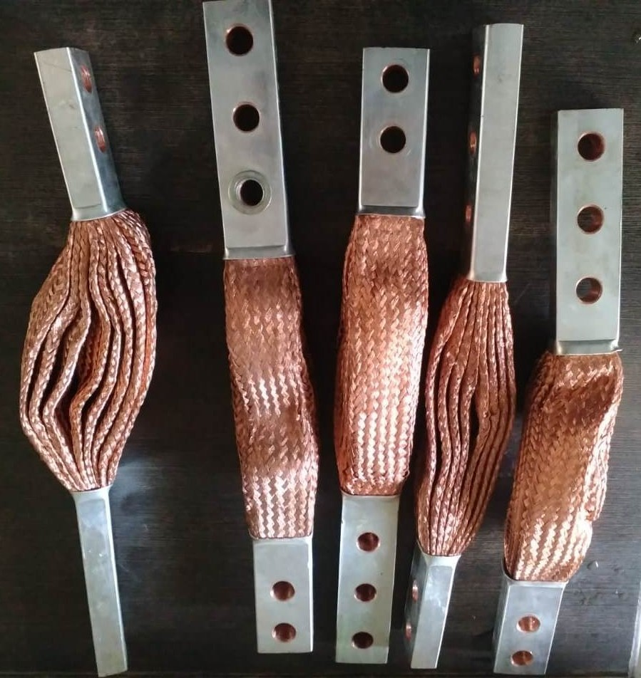 Copper conducting material braided flexible links