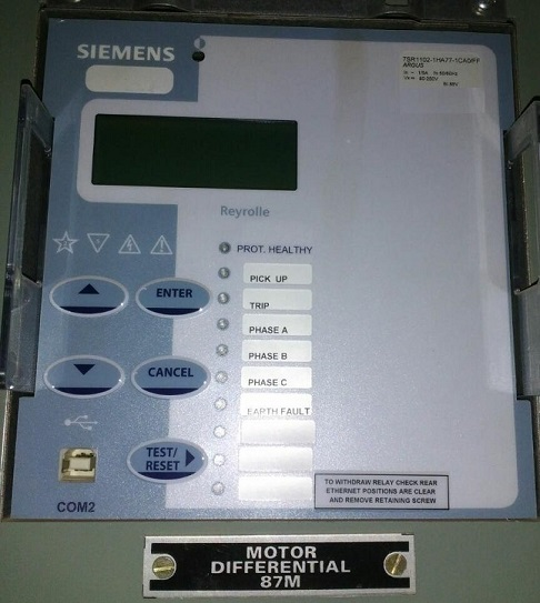 Application of Siemens Over current Relay